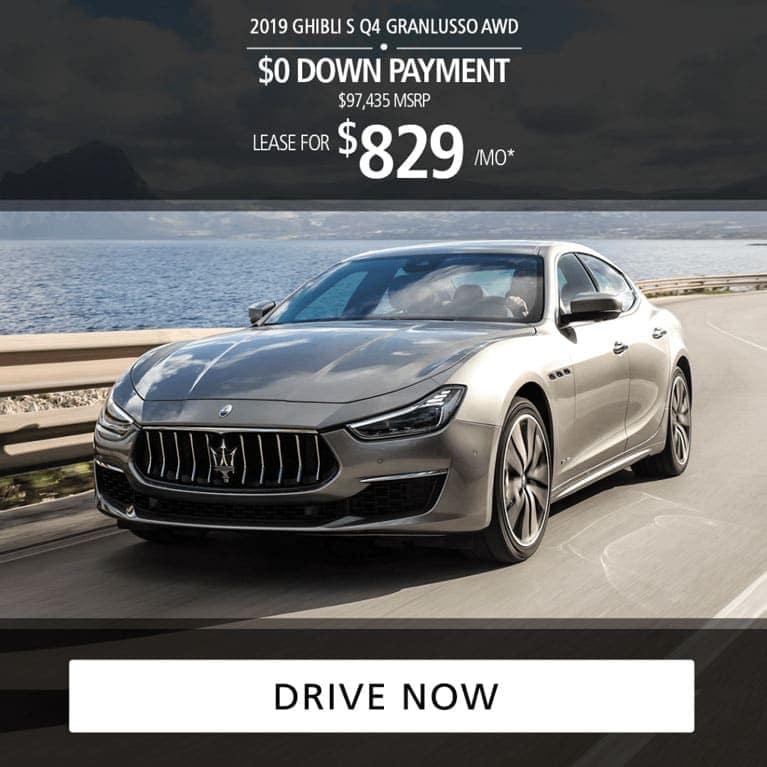2019 Maserati Ghibli S Q4 GranLusso AWD Lease