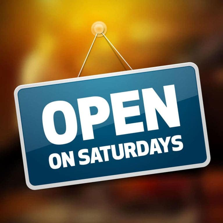 <b>Our Service Department is OPEN on Saturdays</b>