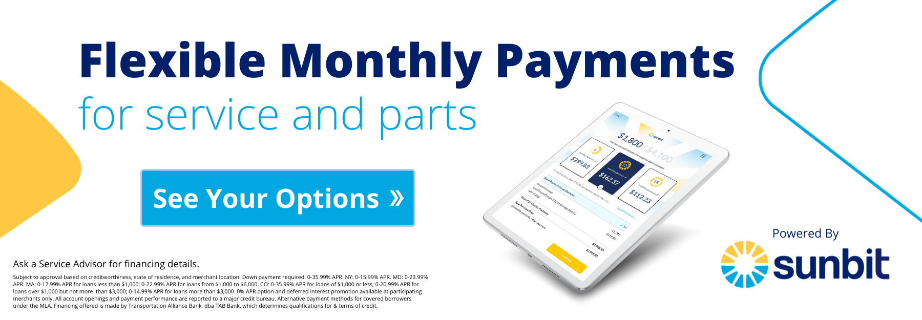 Service and Parts Payments