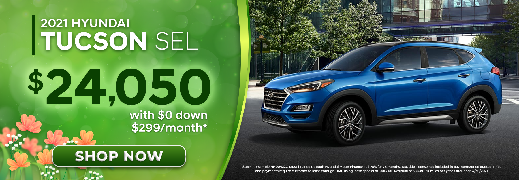 2022 Hyundai Tucson SEL With $0 Down, $299/Month