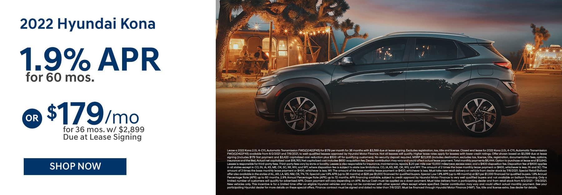 2022 Hyundai Kona June Offer in Greenville, TX