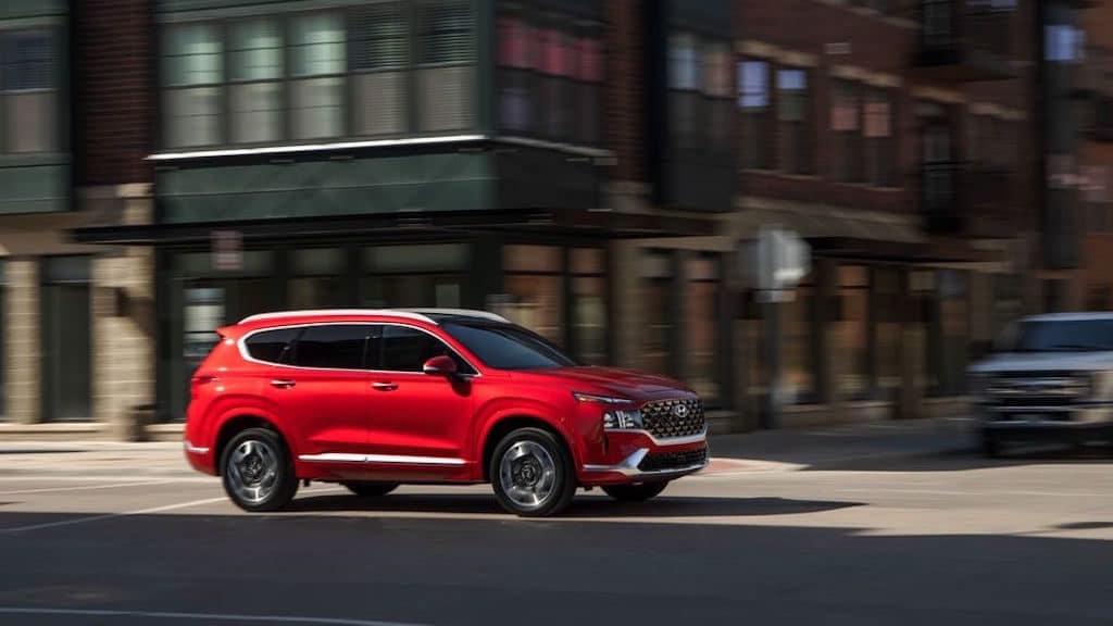 2021 Hyundai Santa Fe Exterior Red