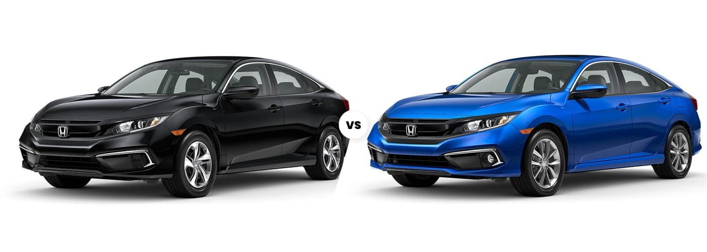 2020 Honda Civic LX vs. EX