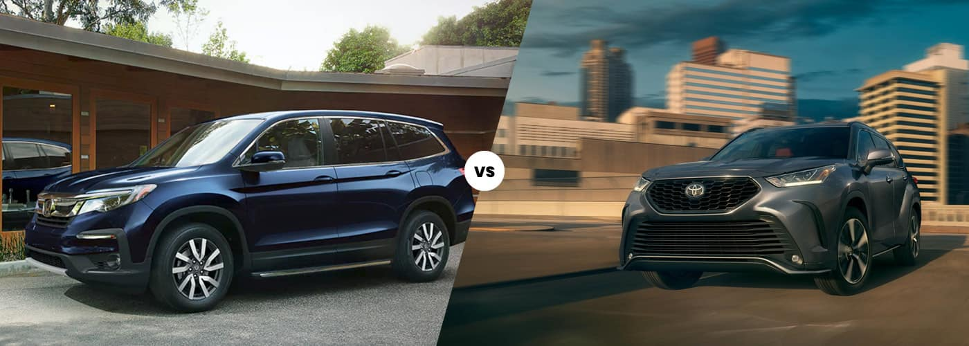 2021 Honda Pilot vs. 2021 Toyota Highlander
