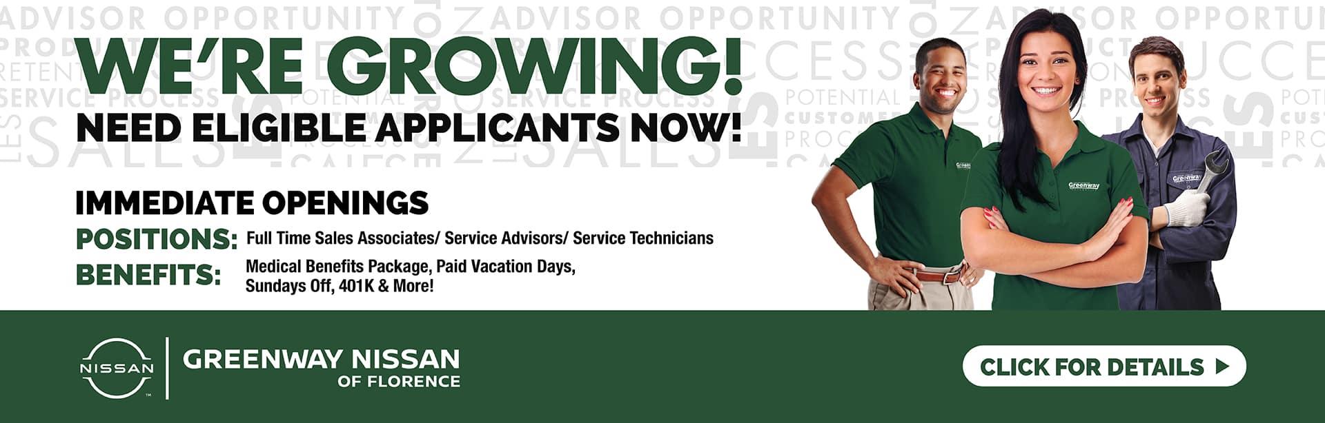 Service & Sales Job Posting Assets