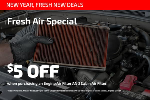 Fresh Air Special $5 off