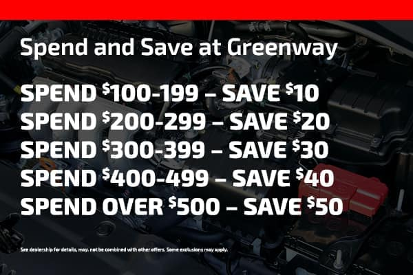 Spend and save at greenway