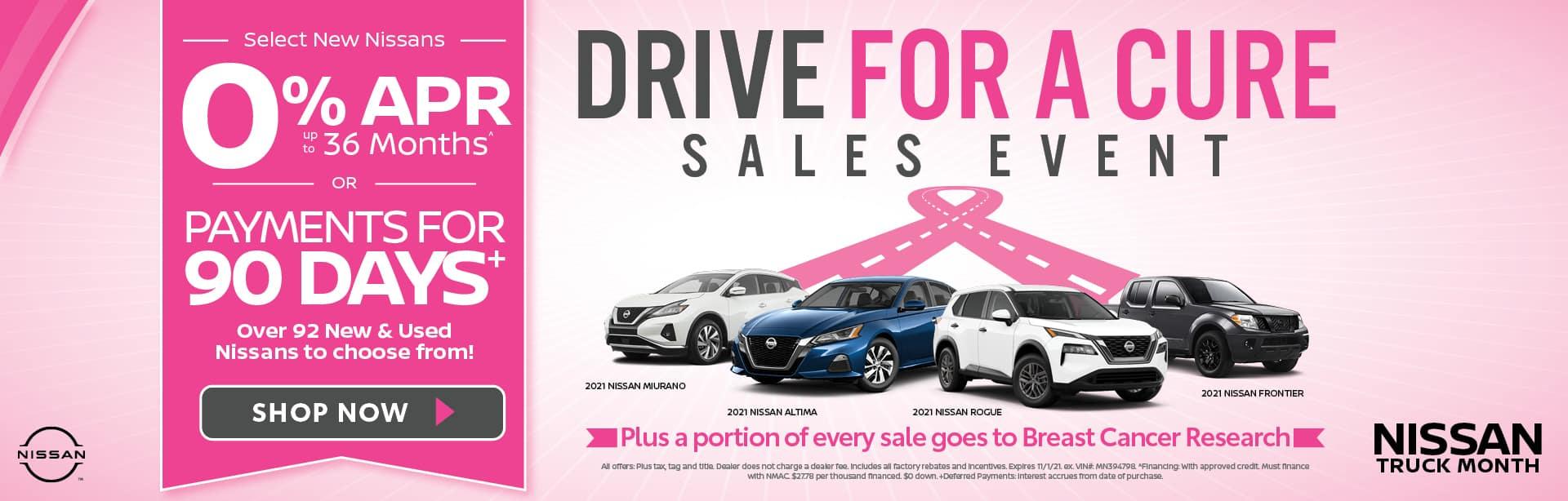 Select New Nissans 0% APR
