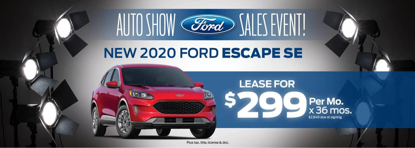 Auto Show Special for red 2020 ford escape