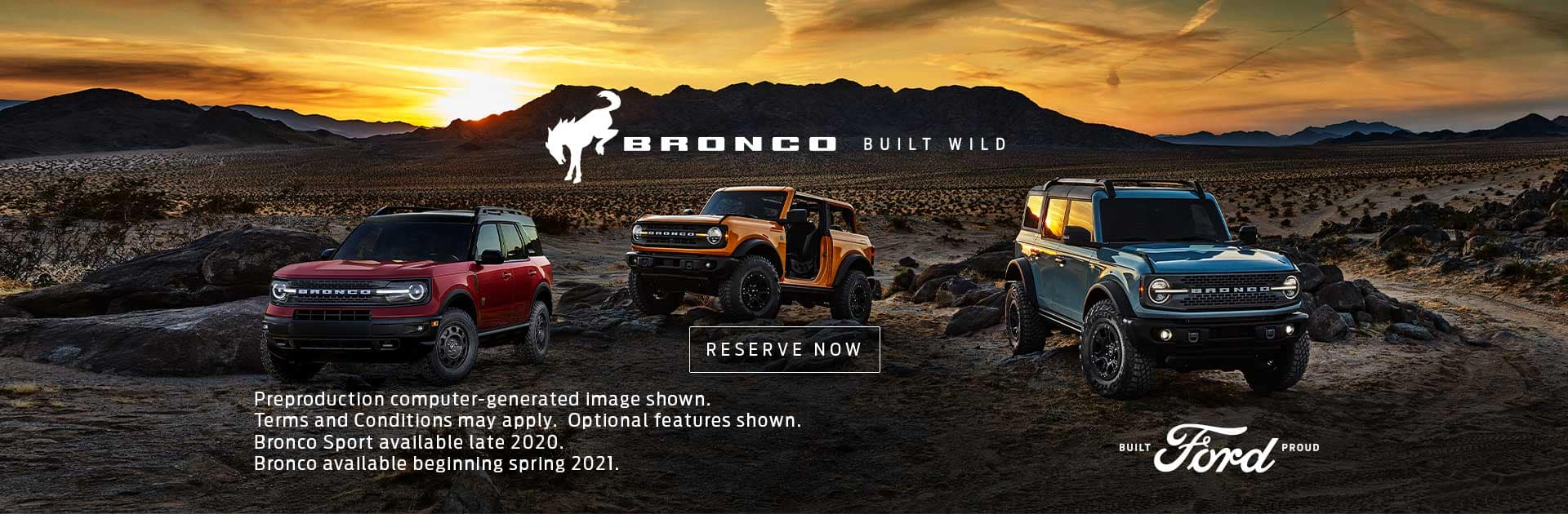 Reserve your Bronco now