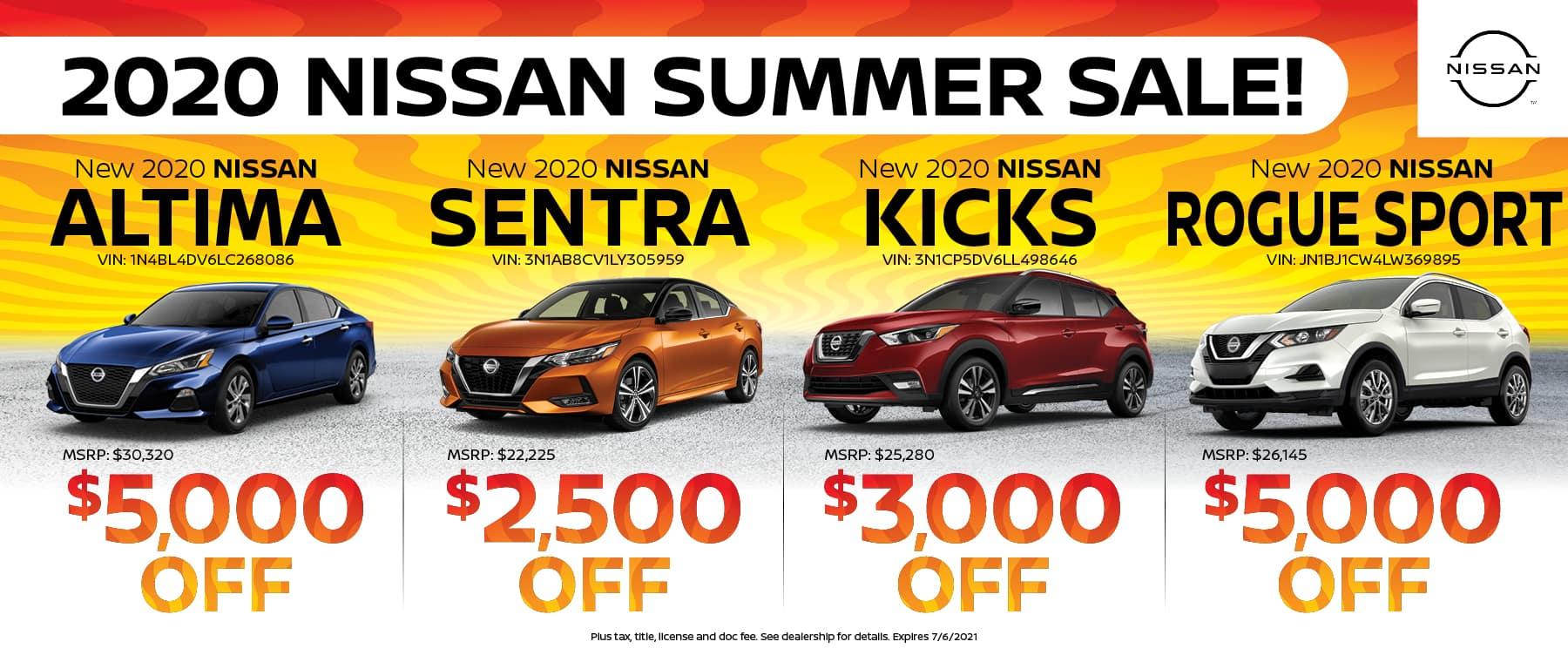 2020 Nissan Summer Sale
