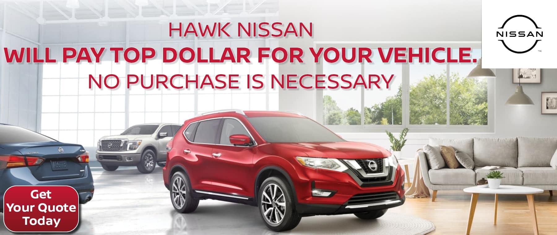 We Buy Cars | Hawk Nissan St. Charles t