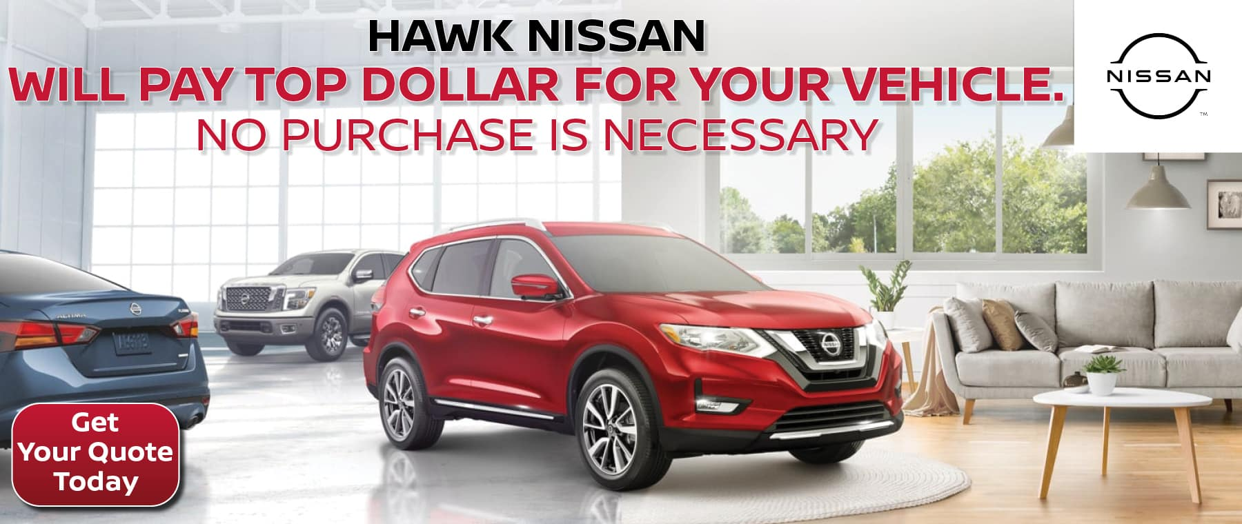 We'll Pay Top Dollar For Your Vehicle | Hawk Nissan of St. Charles