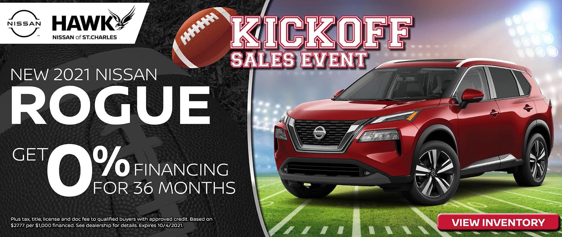 2021 Nissan Rogue Finance Offer | Hawk Nissan St. Charles