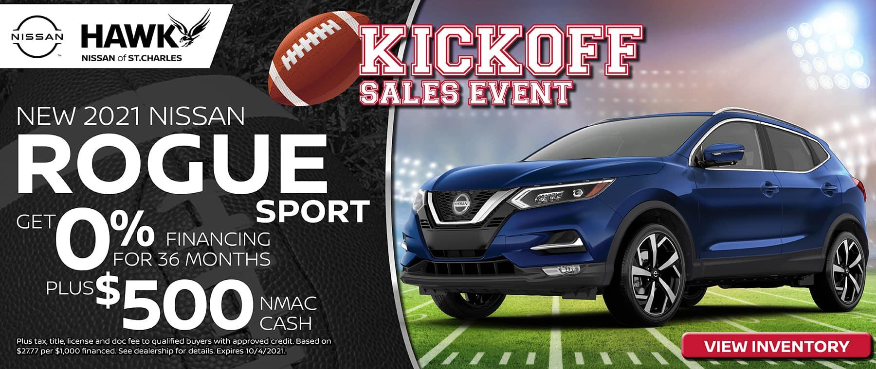 2021 Nissan Rogue Sport Finance Offer | Hawk Nissan St. Charles