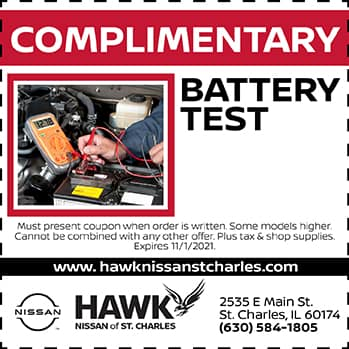 Complimentary Battery Test | Hawk Nissan of St. Charles
