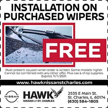 Free Wiper Installation | Hawk Nissan of St. Charles