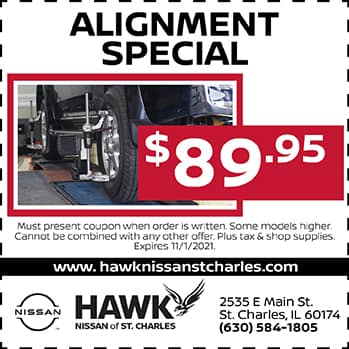 Alignment Special | Hawk Nissan of St. Charles