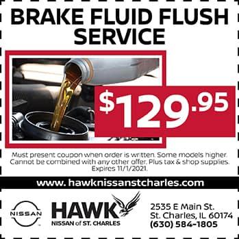 Brake Fluid Flush Special | Hawk Nissan of St. Charles