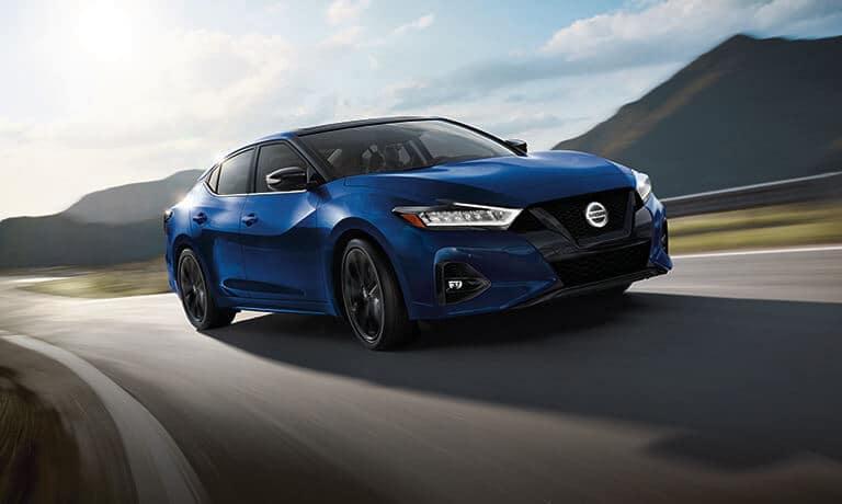 2021 Nissan Maxima exterior driving on sesert road