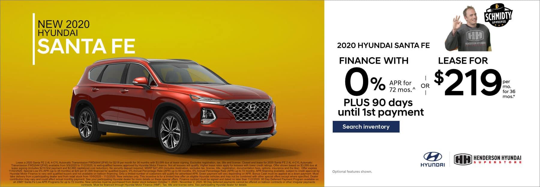 October-2020 Santa Fe_Henderson Hyundai