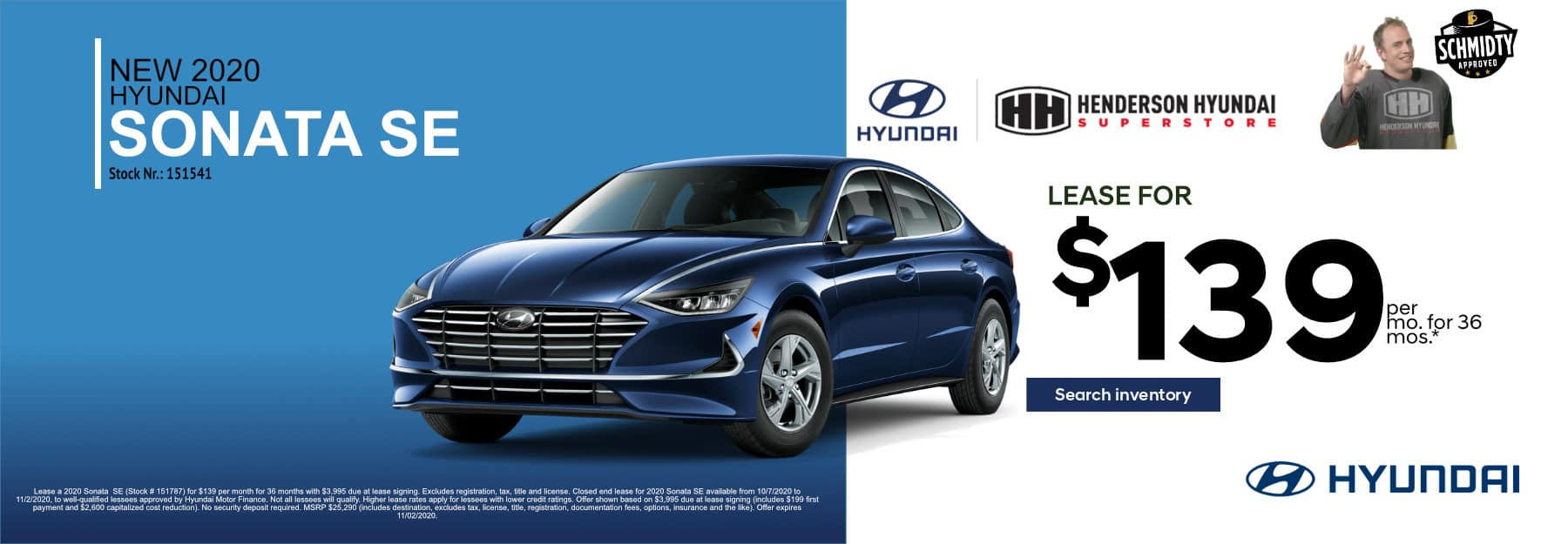 October-2020_Sonata_$139_Mo 36-Month Lease*