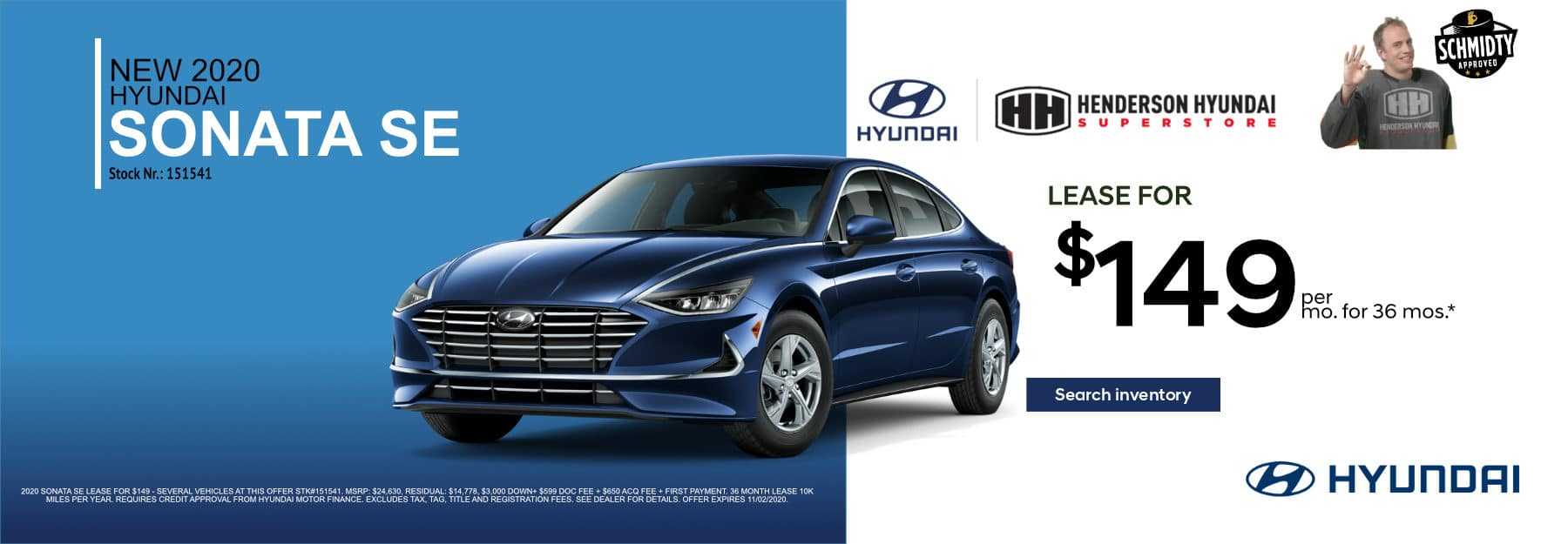 September-2020_Sonata_$149_Mo 36-Month Lease*