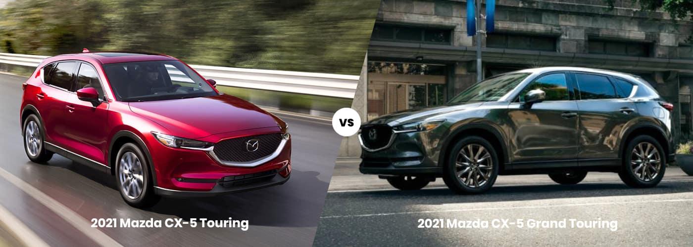 2021 Mazda CX-5 touring vs grand touring comparison