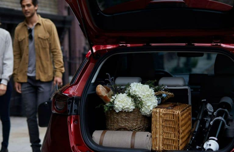 2019 Mazda CX-3 loaded with cargo