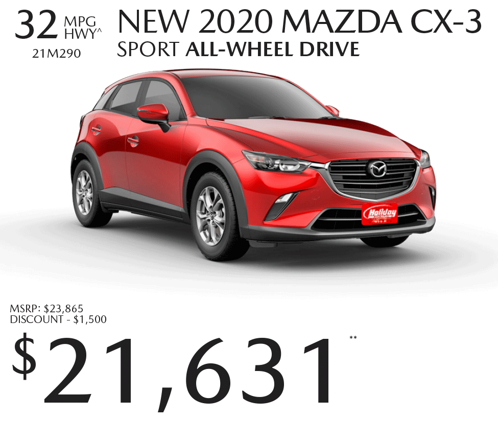 Save up to $1,500 on a new Mazda CX-3