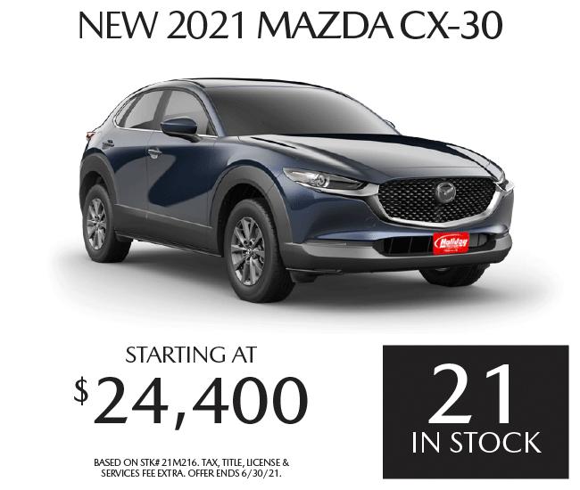 Buy a new Mazda CX-30 starting at $24,400
