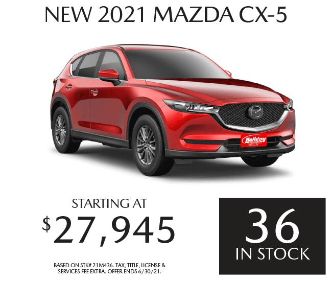 Buy a new Mazda CX-5 starting at $27,945