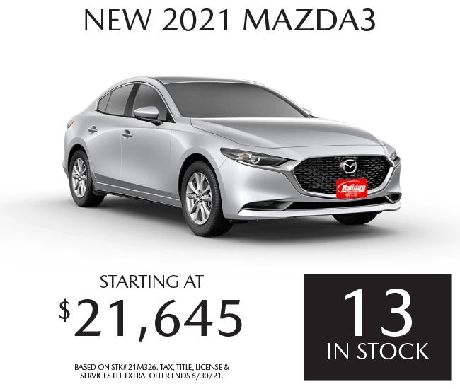 Buy a new Mazda3 starting at $21,645