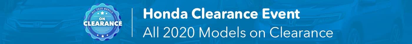 2020 Honda Clearance Event
