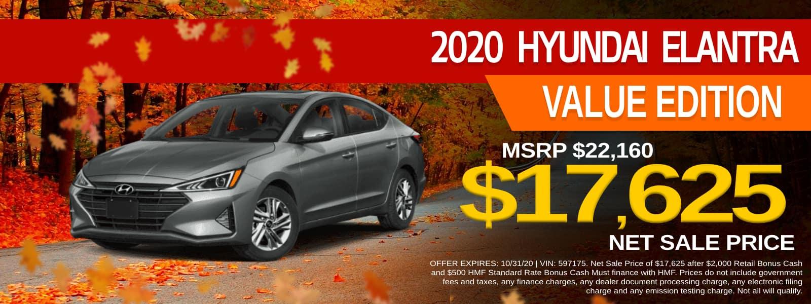 2020 Hyundai Elantra Value