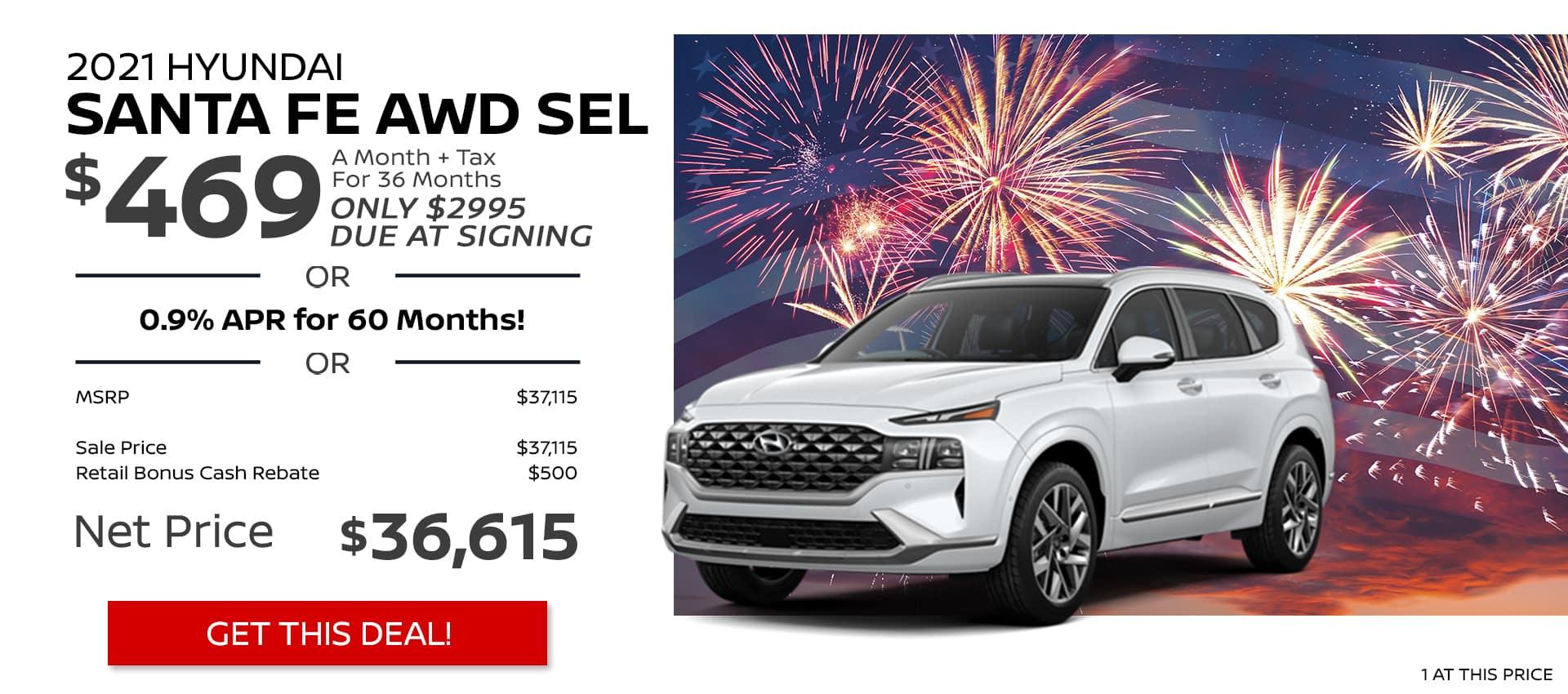 Hyundai Santa Fe AWD SEL JULY