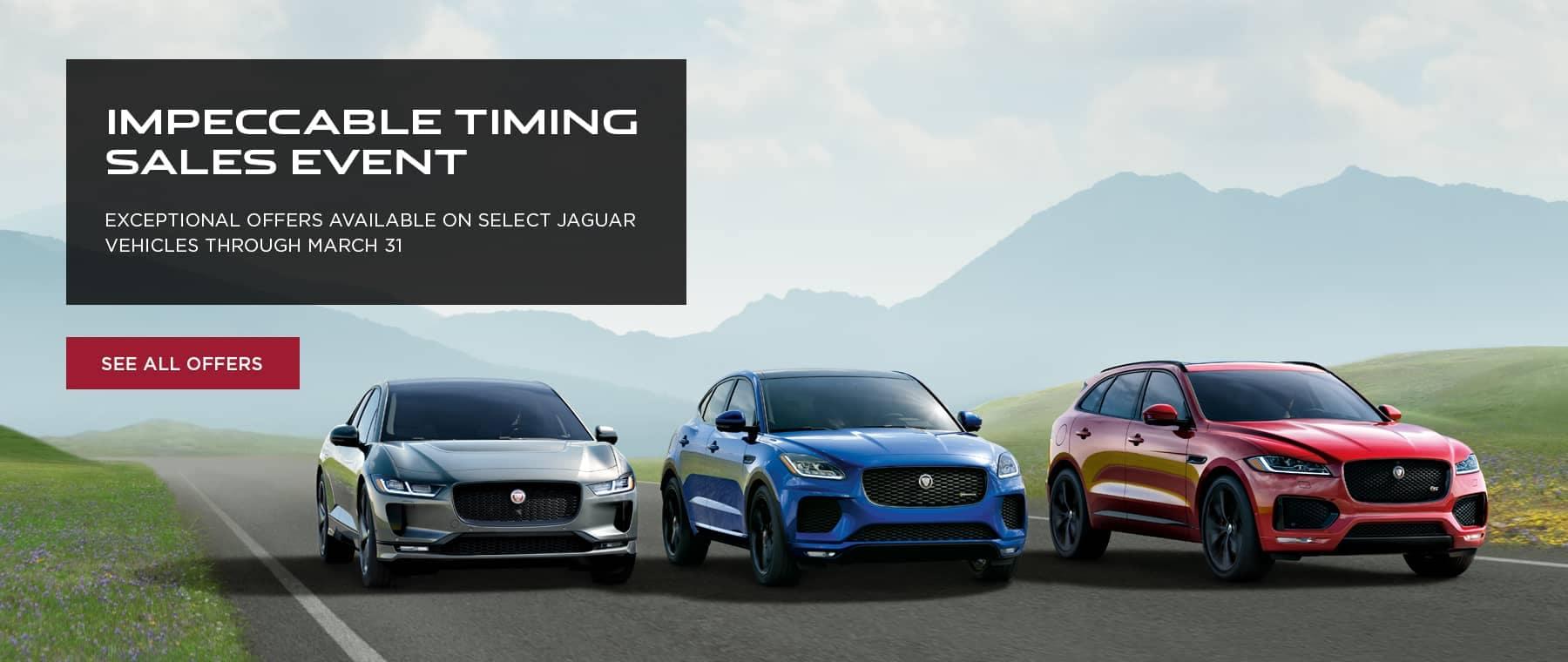 Jaguar Spring Sales Event Banner