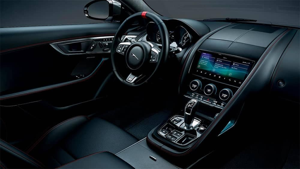 2020-Jaguar-F-TYPE-Checkered-Flag-Edition-interior-with-Black-upholstery
