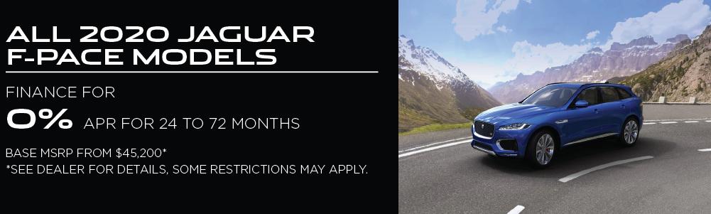 2020 Jaguar F-PACE models