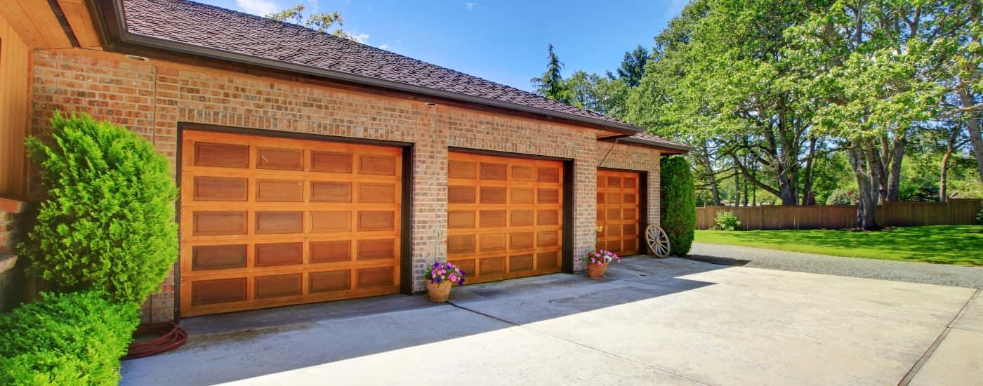 warm brown garage door