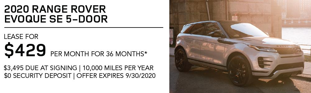 New 2020 Range Rover Evoque SE 5-Door