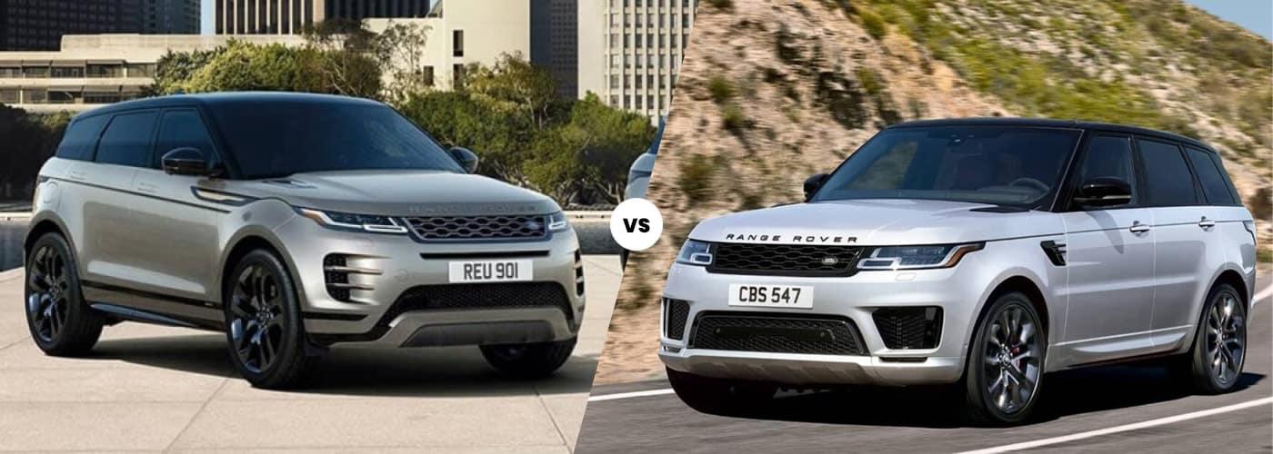 2020 Range Rover Evoque vs. 2020 Range Rover Sport