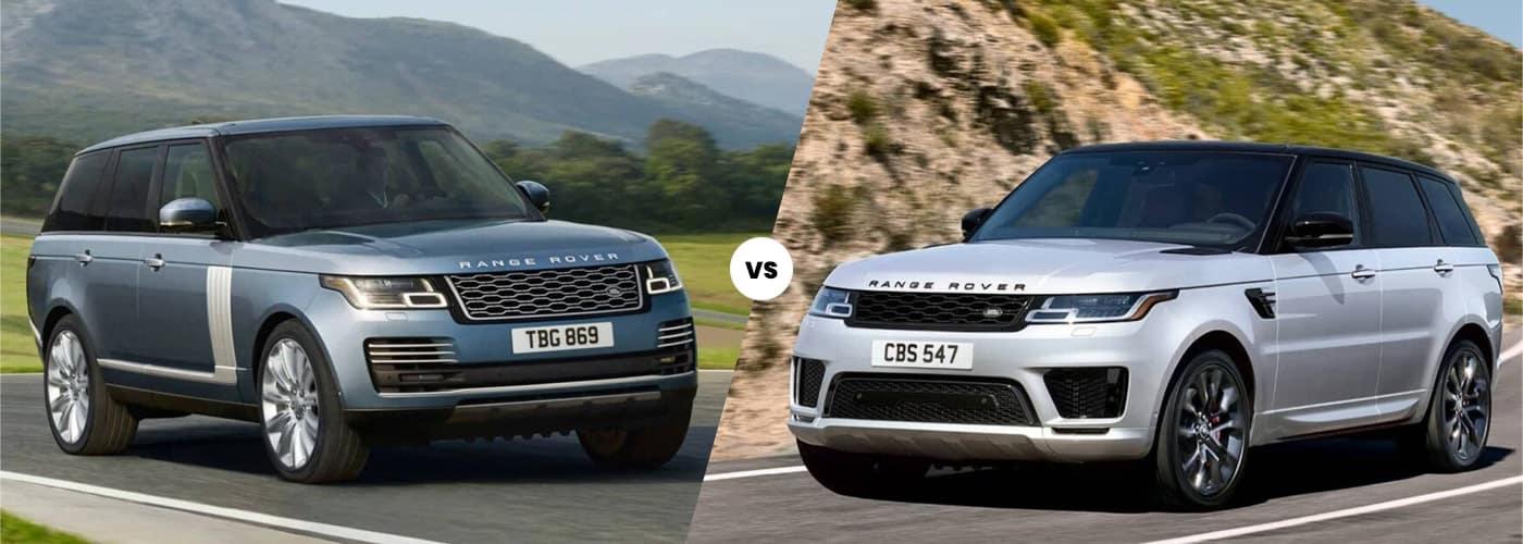 2020 Range Rover vs. 2020 Range Rover Sport