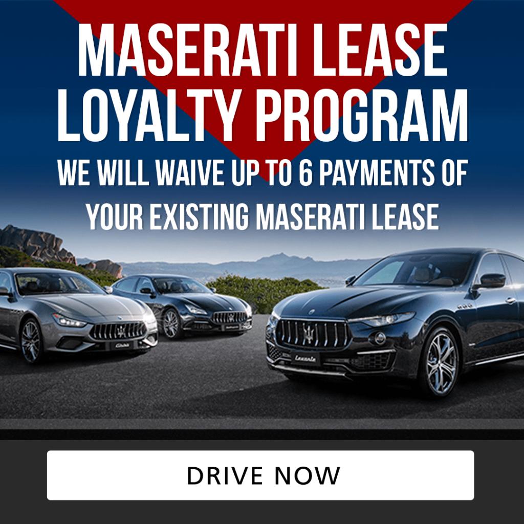 Maserati Lease Loyalty Program