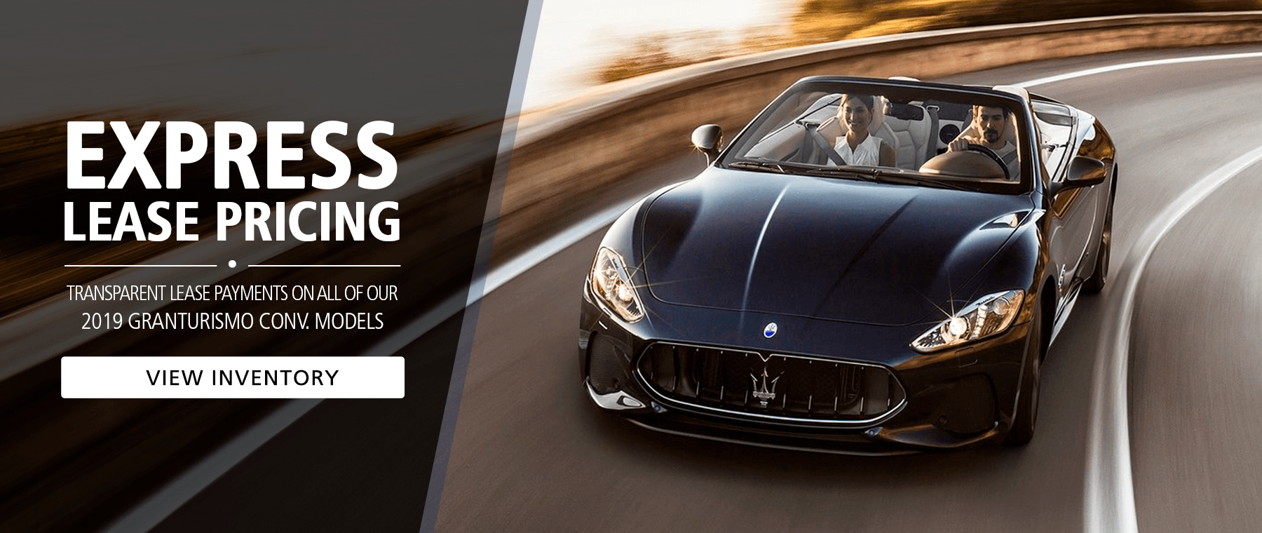 Special Lease Pricing - Maserati GranTurismo
