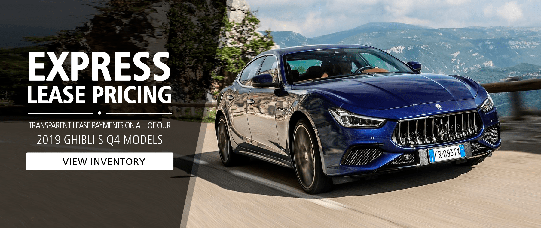 Special Lease Pricing - Maserati Ghibli