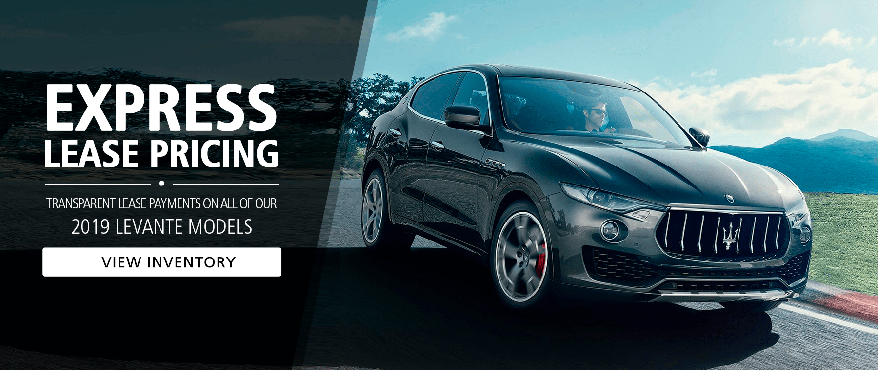 Special Lease Pricing - Maserati Levante