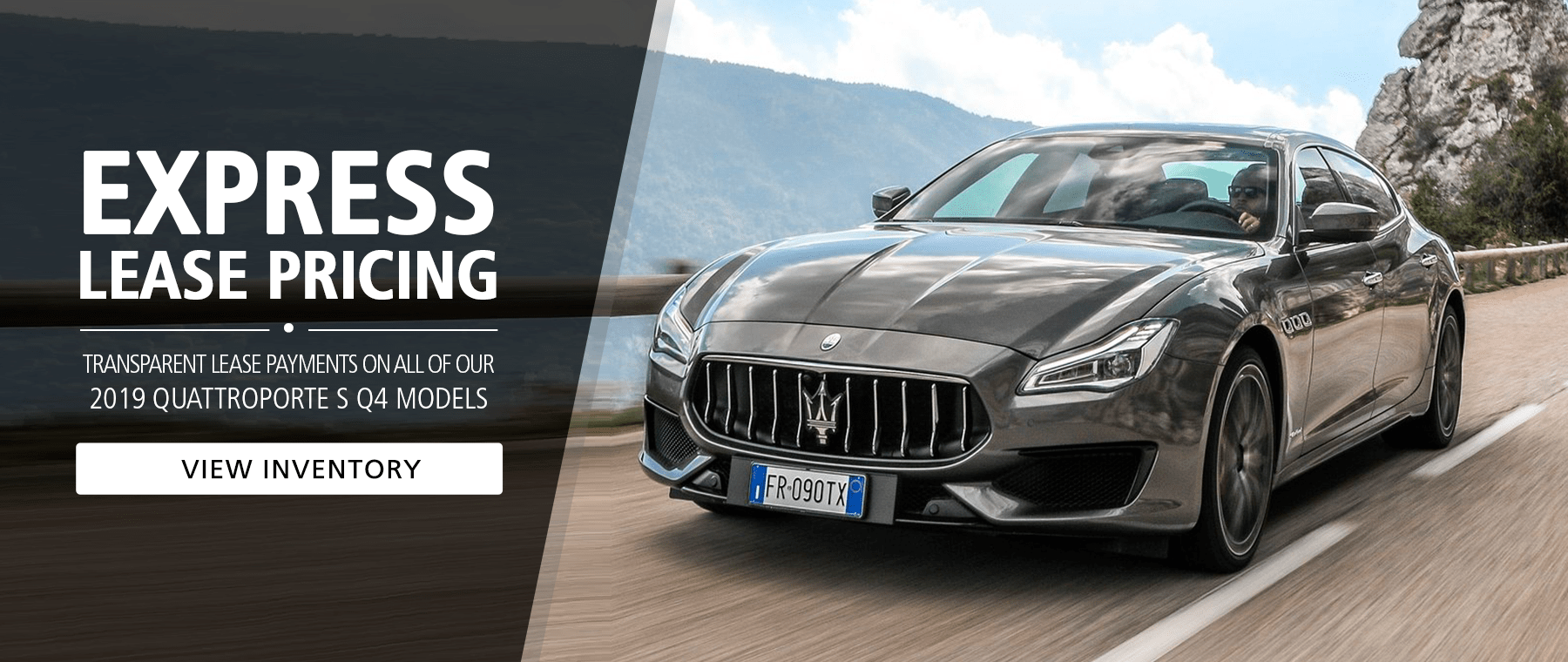 Special Lease Pricing - Maserati Quattroporte