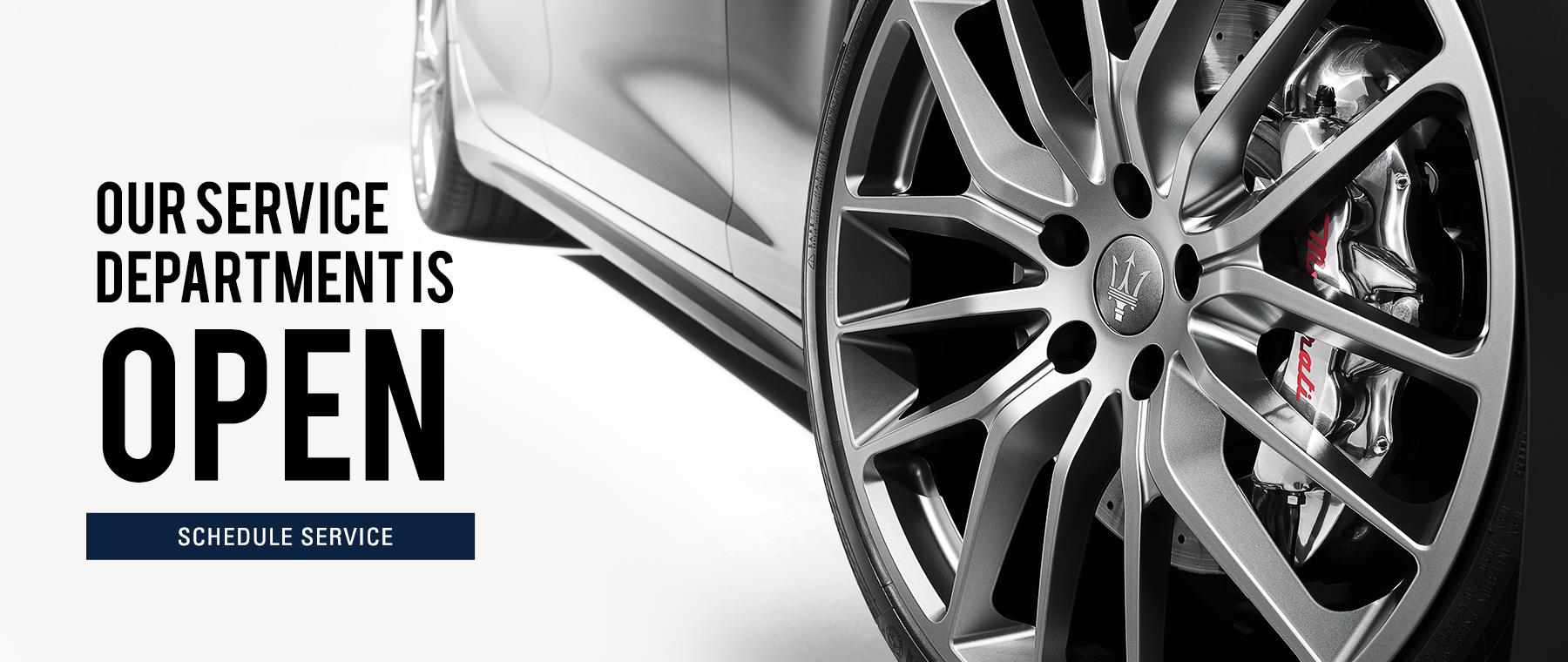 Schedule Maserati Service