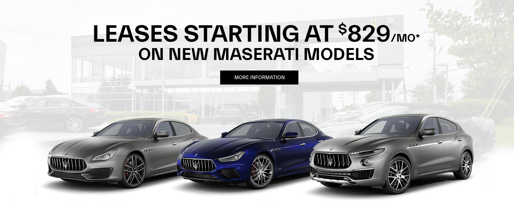 Maserati Lease in New York